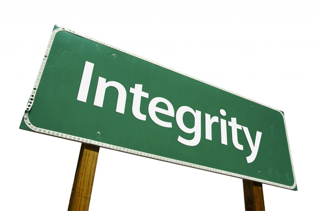 Success Depends on Integrity Photo
